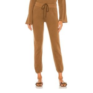 Silk Cashmere Terry Jogger in Gold Enza Costa